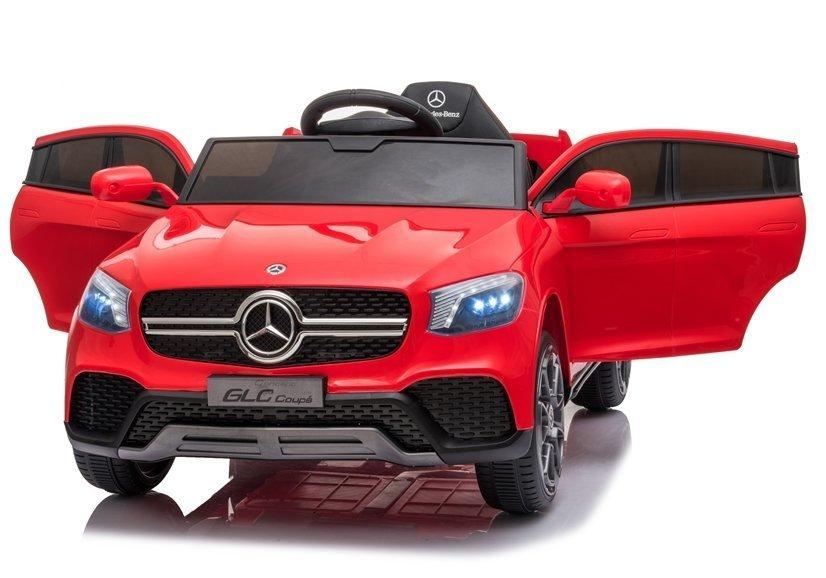 Masinuta electrica cu roti din cauciuc si scaun piele Mercedes-Benz GLC Coupe Red - 2