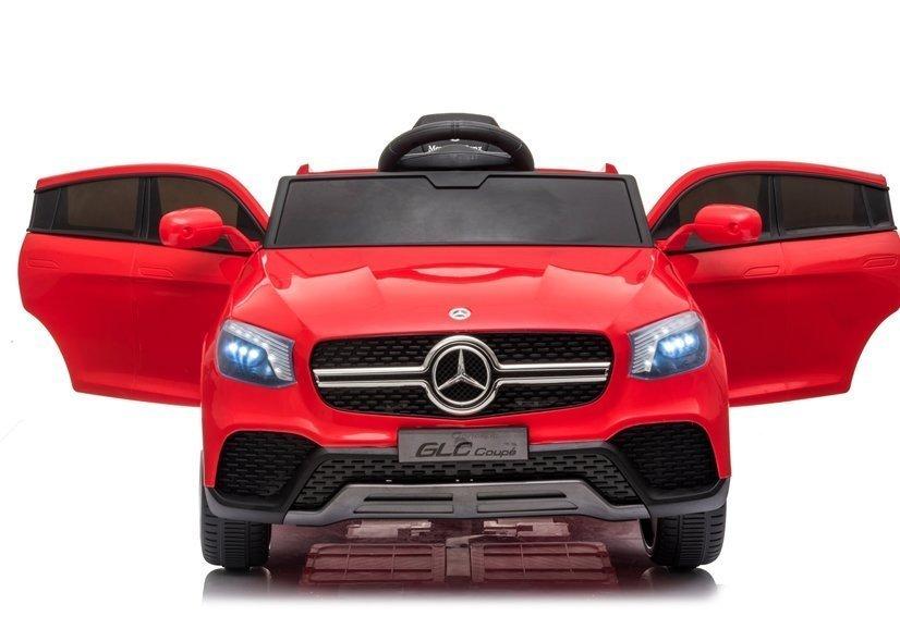 Masinuta electrica cu roti din cauciuc si scaun piele Mercedes-Benz GLC Coupe Red - 3