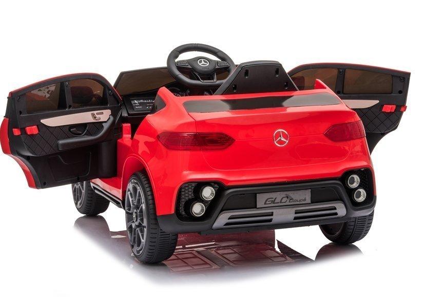 Masinuta electrica cu roti din cauciuc si scaun piele Mercedes-Benz GLC Coupe Red - 4
