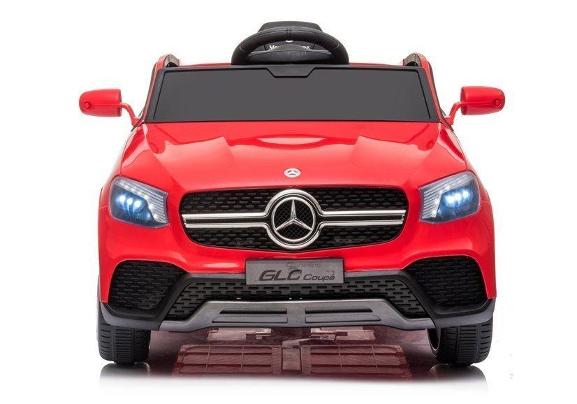 Masinuta electrica cu roti din cauciuc si scaun piele Mercedes-Benz GLC Coupe Red - 5