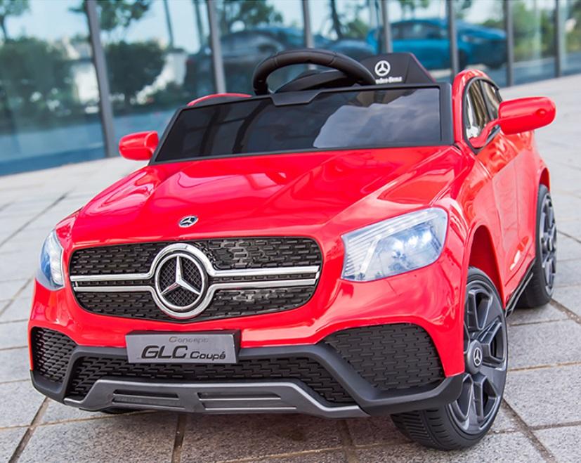 Masinuta electrica cu roti din cauciuc si scaun piele Mercedes-Benz GLC Coupe Red - 7