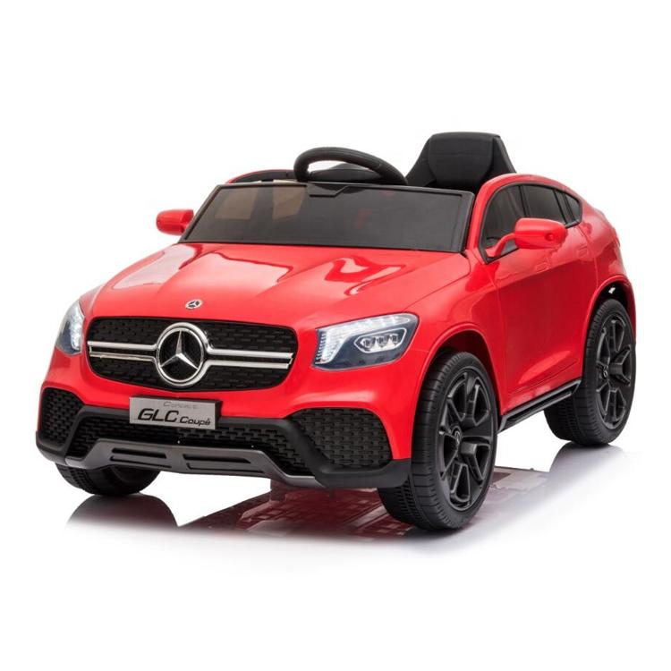 Masinuta electrica cu roti din cauciuc si scaun piele Mercedes-Benz GLC Coupe Red - 8
