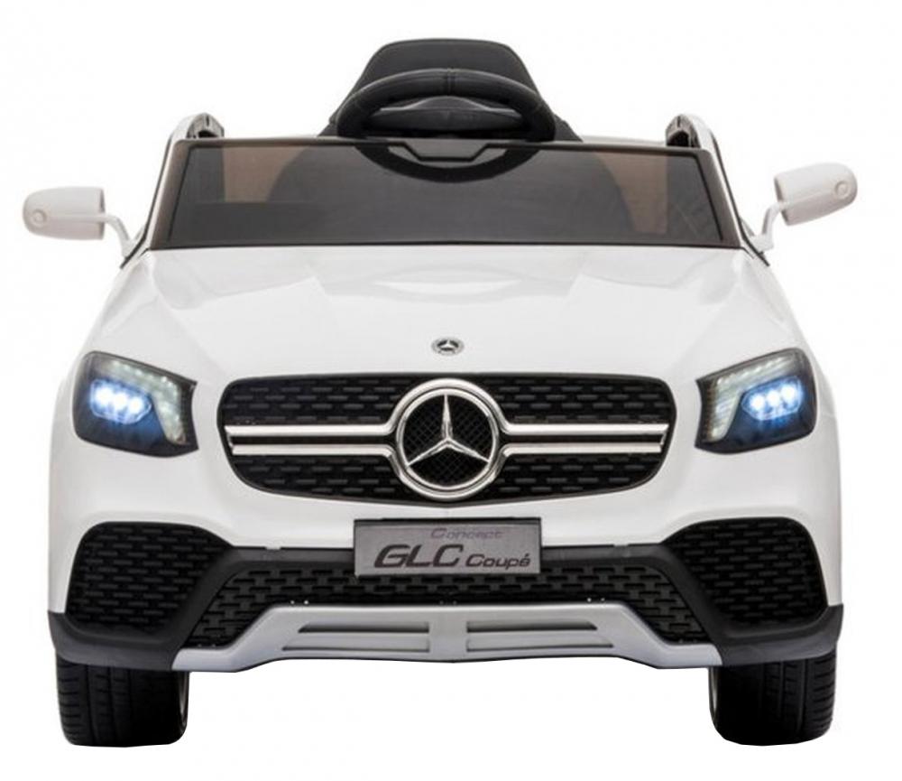 Masinuta electrica cu roti din cauciuc si scaun piele Mercedes-Benz GLC Coupe White - 1