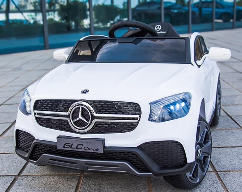 Masinuta electrica cu roti din cauciuc si scaun piele Mercedes-Benz GLC Coupe White - 2