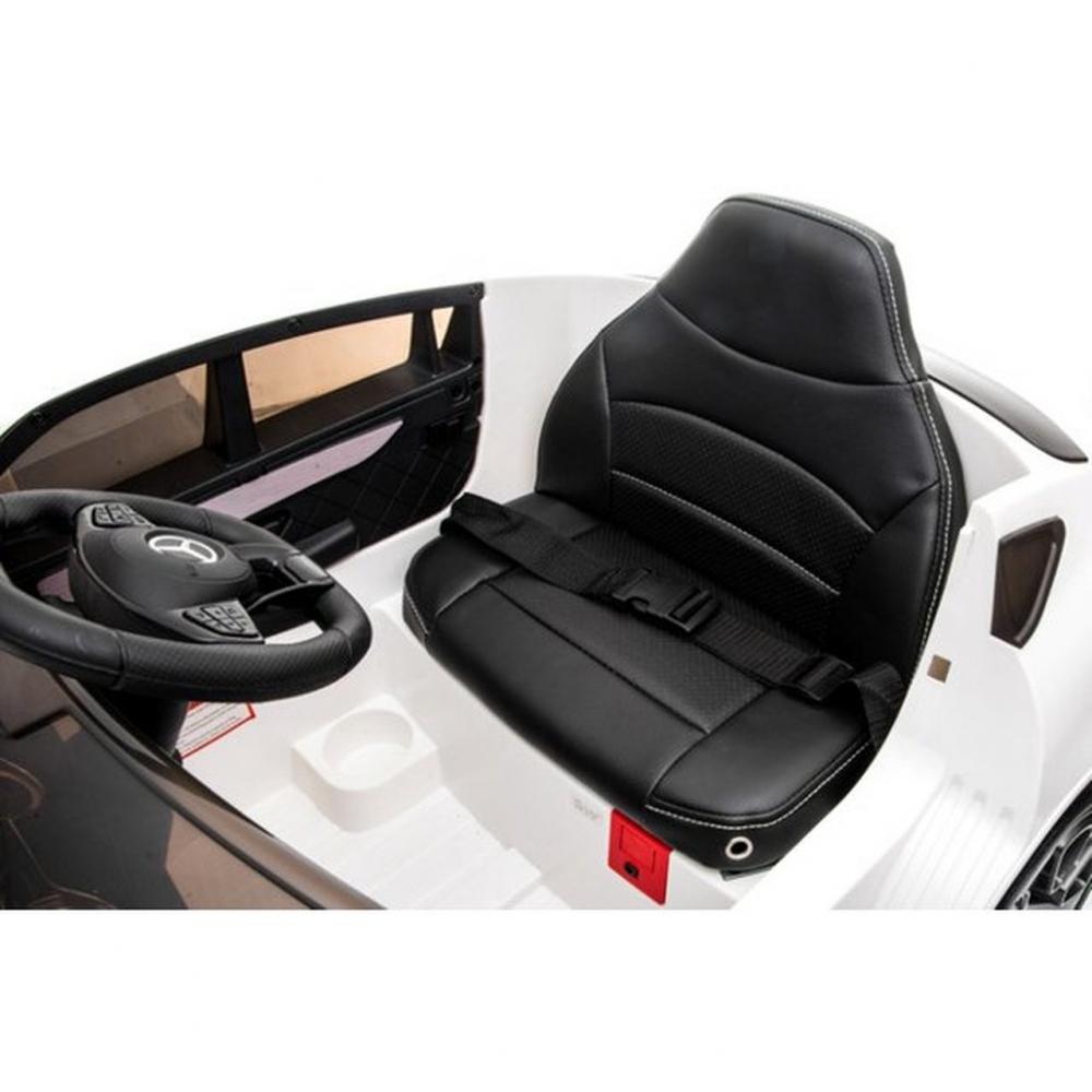 Masinuta electrica cu roti din cauciuc si scaun piele Mercedes-Benz GLC Coupe White - 3