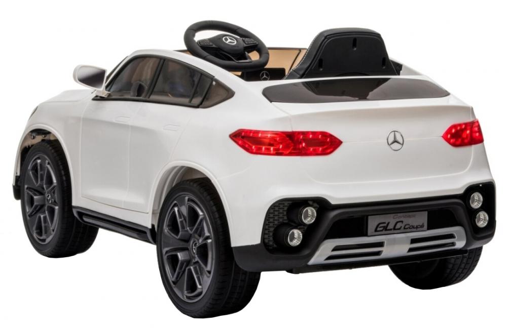 Masinuta electrica cu roti din cauciuc si scaun piele Mercedes-Benz GLC Coupe White - 4