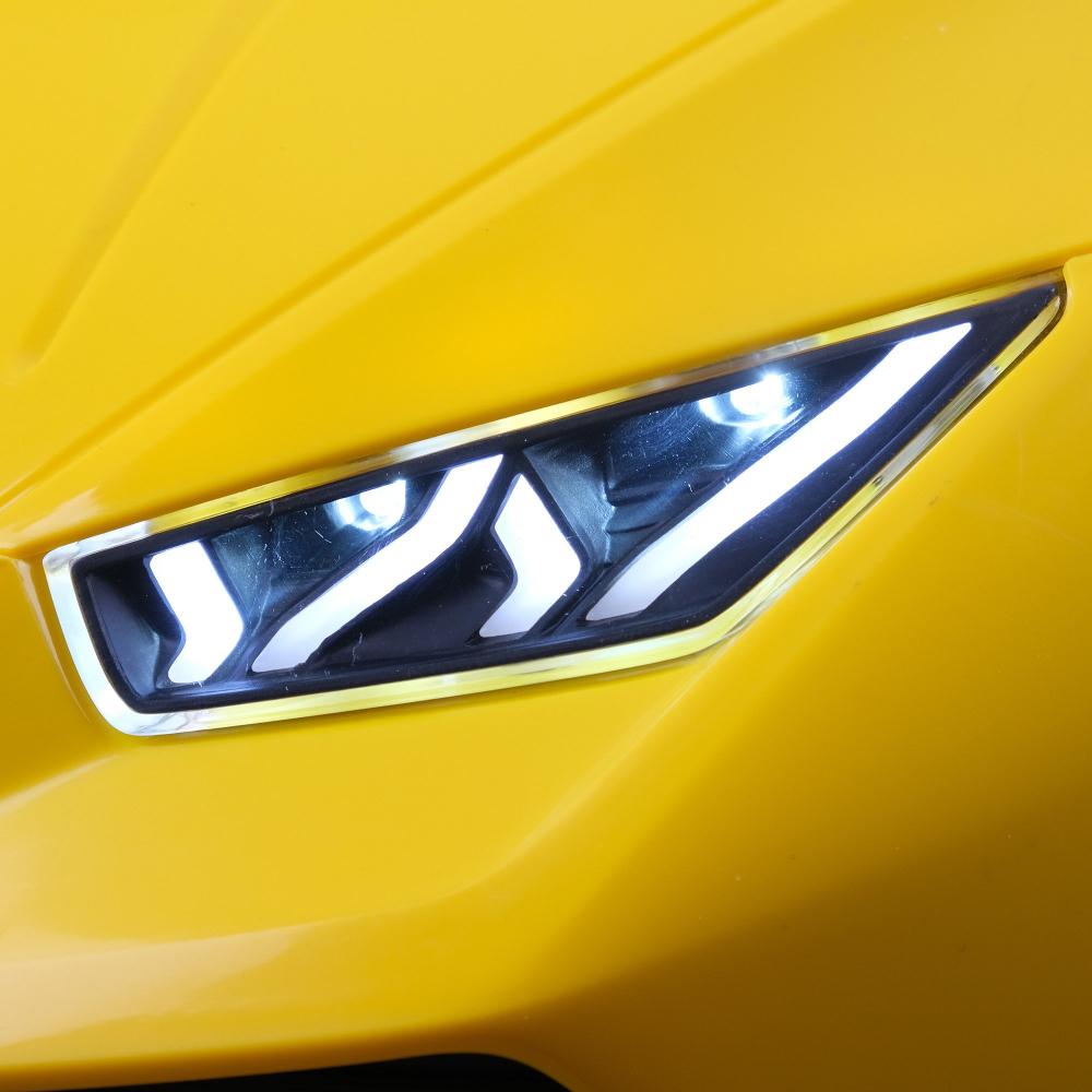Masinuta electrica cu roti din cauciuc si scaun piele Lamborghini Huracan Blue - 1