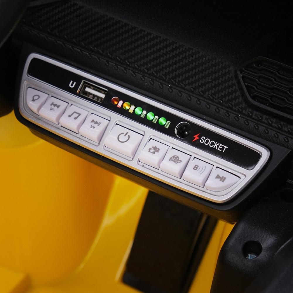Masinuta electrica cu roti din cauciuc si scaun piele Lamborghini Huracan Blue - 3