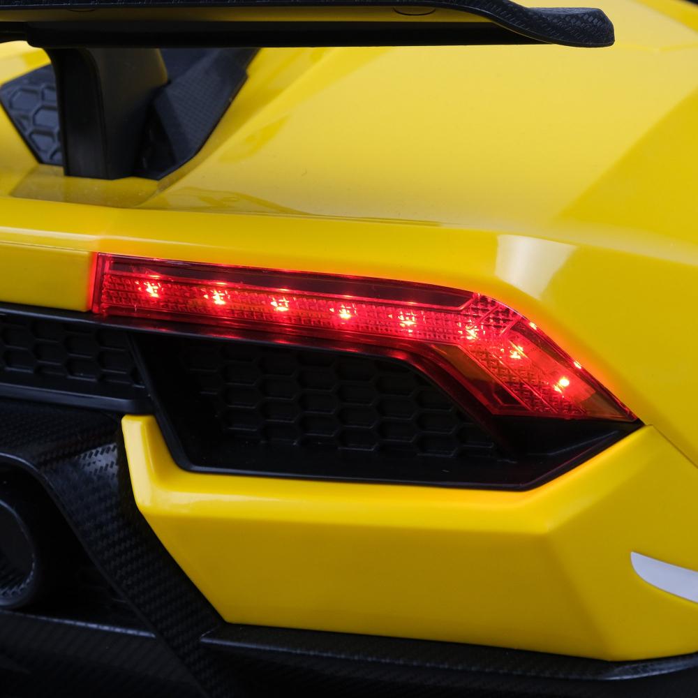 Masinuta electrica cu roti din cauciuc si scaun piele Lamborghini Huracan Red - 1