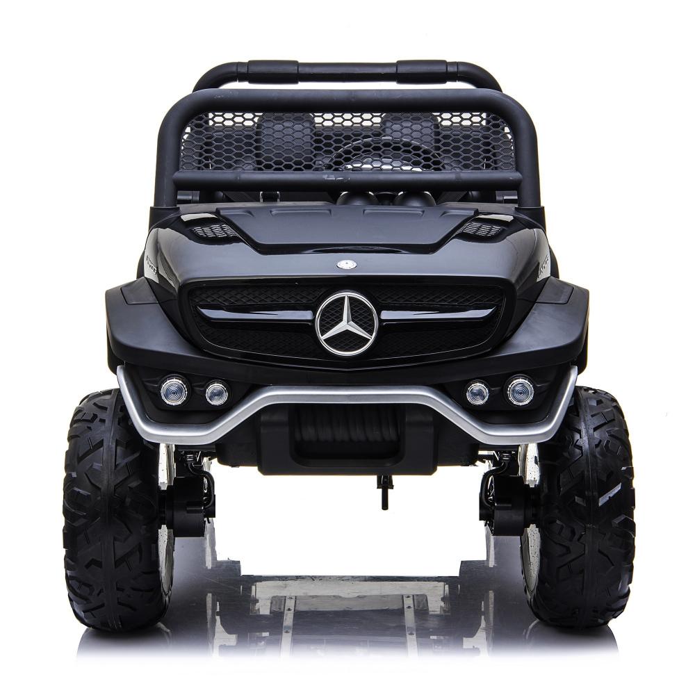 Masinuta electrica cu scaun de piele Mercedes Unimog Paint Black