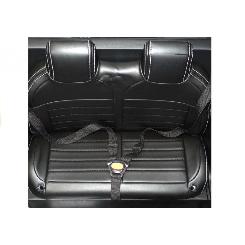 Masinuta electrica cu scaun de piele Mercedes Unimog Paint Black - 3