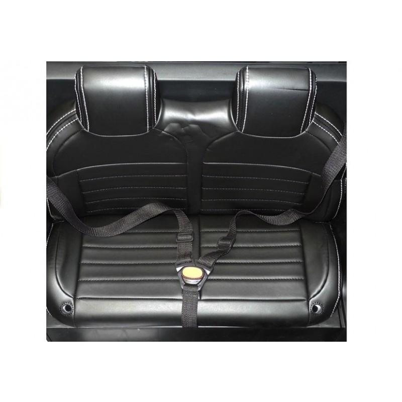 Masinuta electrica cu scaun de piele Mercedes Unimog Paint Blue - 3