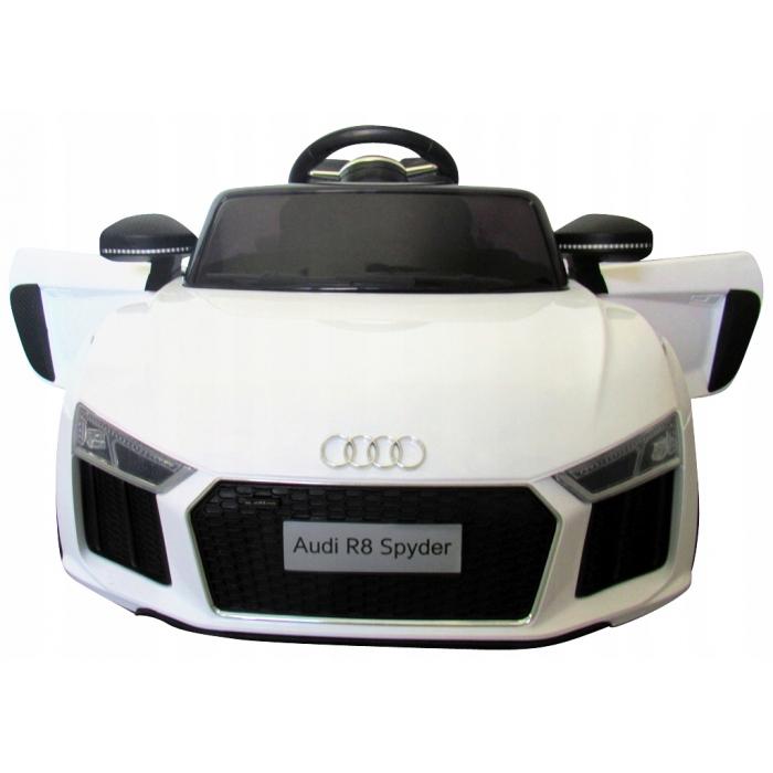 Masinuta electrica cu telecomanda, roti EVA si scaun piele Audi R8 R-Sport alb - 2