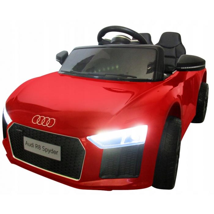 Masinuta electrica cu telecomanda, roti EVA si scaun piele Audi R8 R-Sport rosu - 3