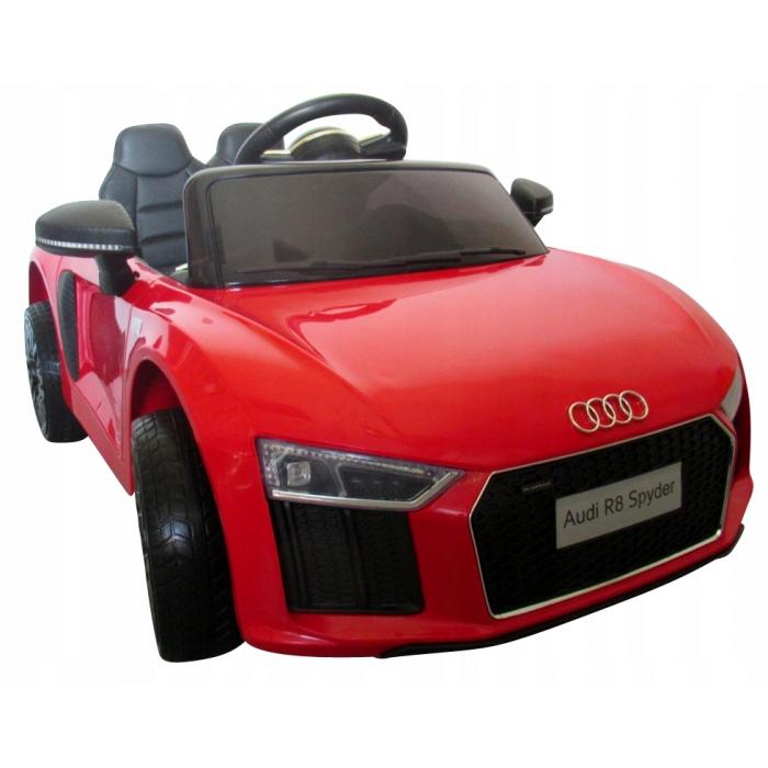 Masinuta electrica cu telecomanda, roti EVA si scaun piele Audi R8 R-Sport rosu
