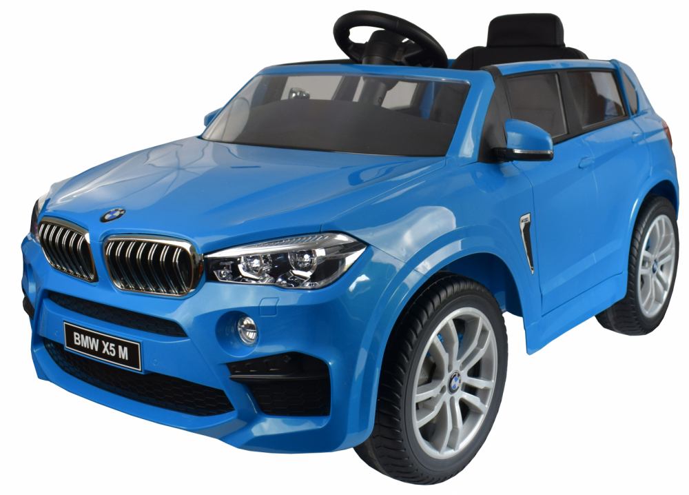 Masinuta electrica cu telecomanda BMW X5 M Blue - 11