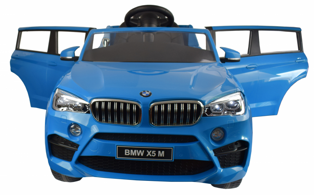 Masinuta electrica cu telecomanda BMW X5 M Blue - 4
