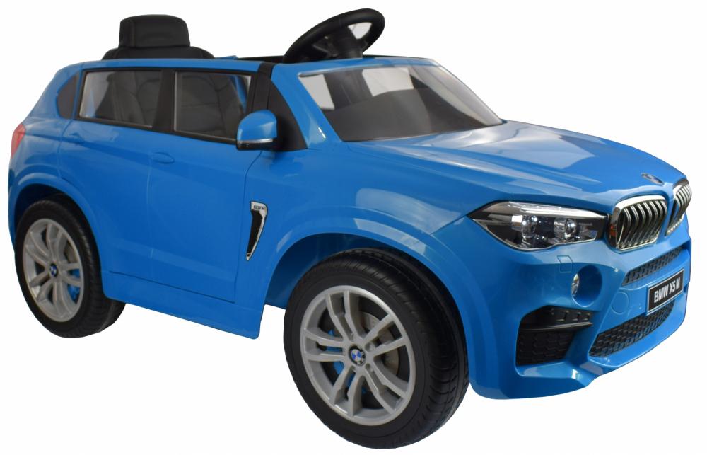 Masinuta electrica cu telecomanda BMW X5 M Blue - 6