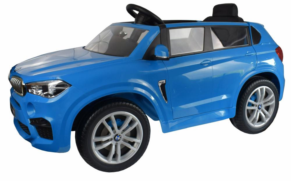 Masinuta electrica cu telecomanda BMW X5 M Blue - 8