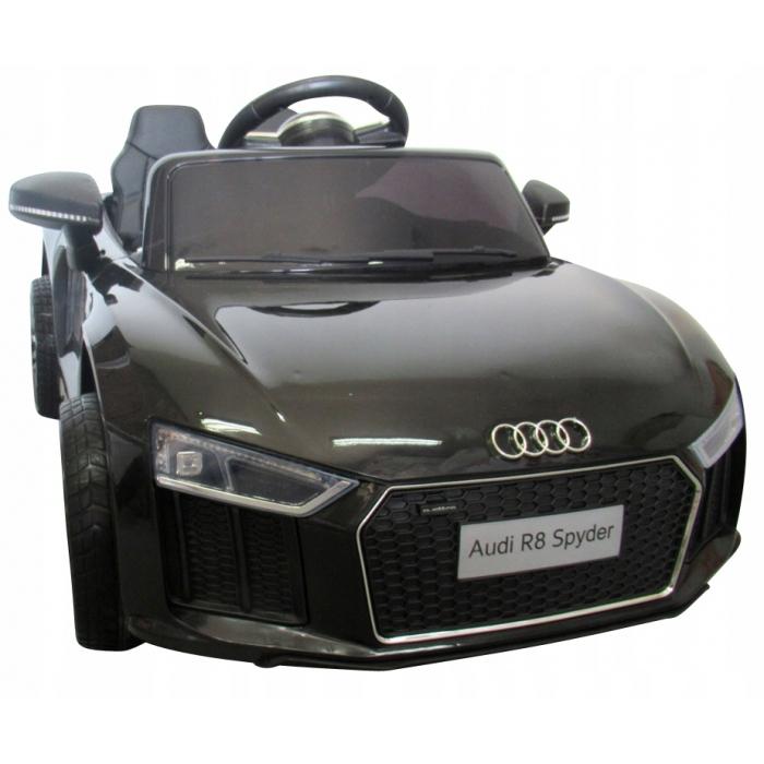 Masinuta electrica cu telecomanda, roti EVA si scaun piele Audi R8 R-Sport negru