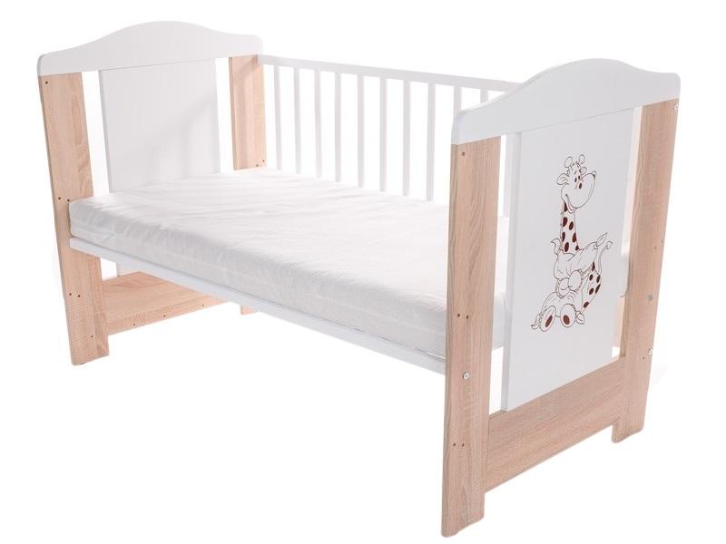 Patut pentru bebelusi din lemn masiv 120x60 cm