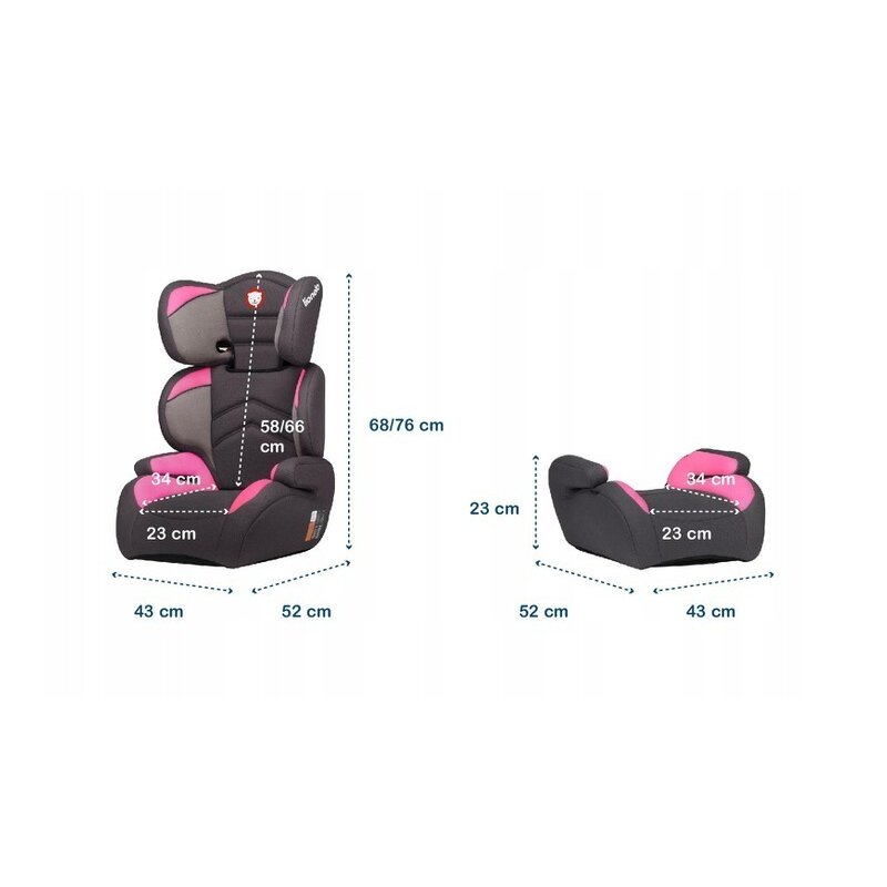 Scaun Auto Copii 15-36 Kg Lars Candy Pink