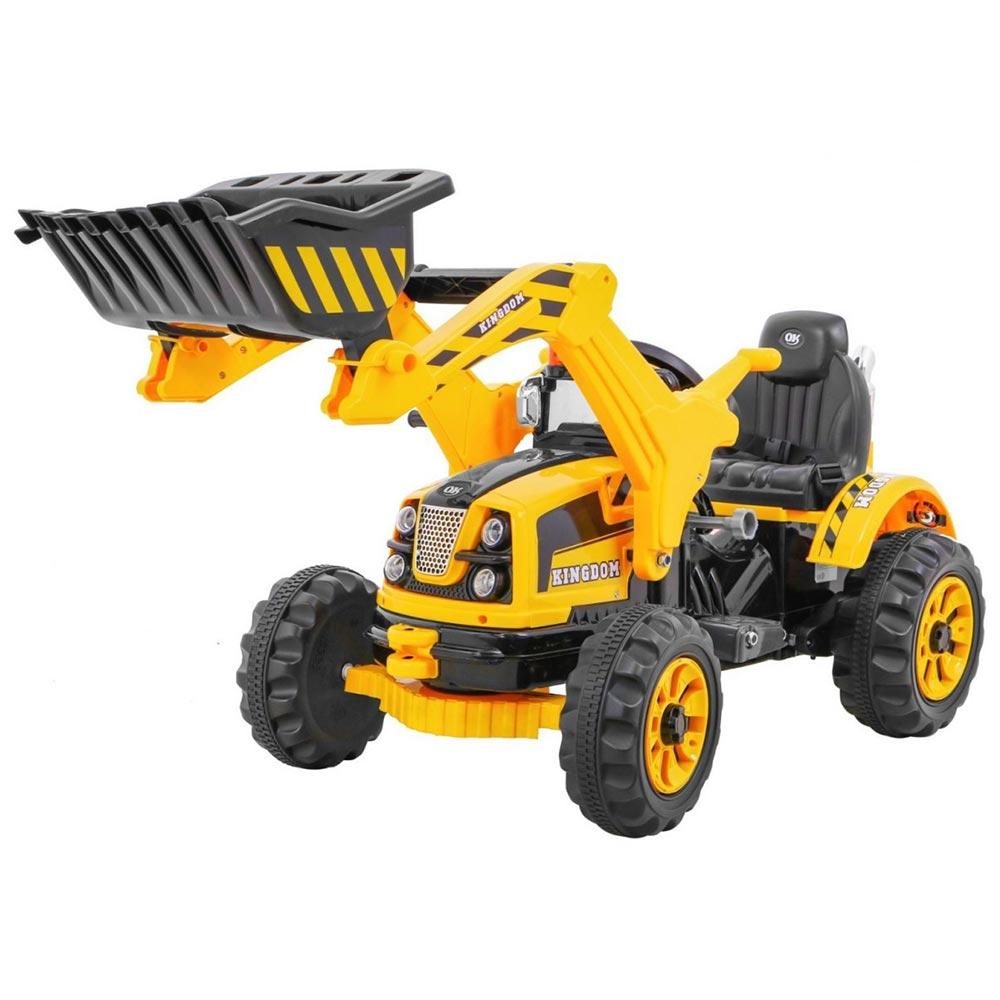 Tractor electric cu cupa pentru copii JS328A galben