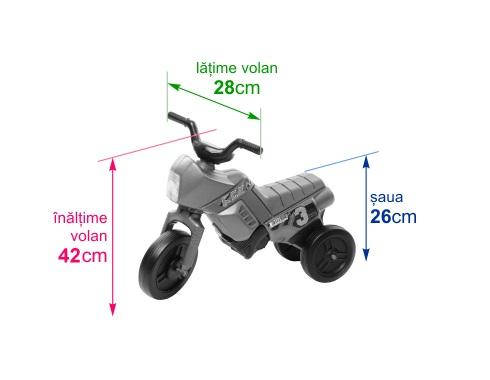 Tricicleta fara pedale Enduro Mini turcoaz-gri