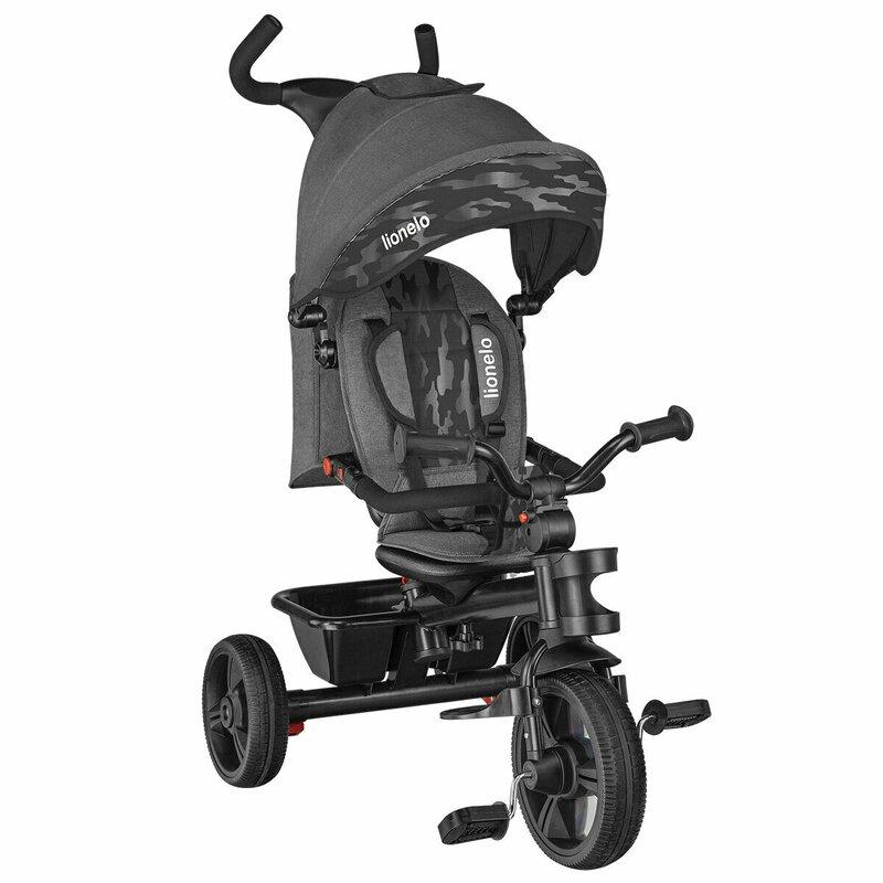 Tricicleta Multifunctionala Cu Sezut Reversibil, Pliabila Haari Stone Grey