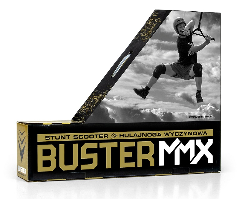 Trotineta MMX Freestyle Buster Blue 100mm +6 ani