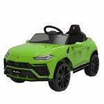 Masinuta electrica 12V Lamborghini Urus Verde cu scaun de piele si roti EVA