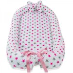 Baby nest din cocos Stars Pink