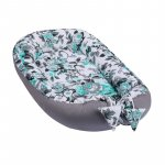 Baby Nest multifunctional din bumbac Blue Flowers