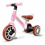 Bicicleta de echilibru 3 in 1 cu pedale pentru copii Ecotoys LC-V1322 Roz