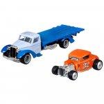 Camion Hot Wheels by Mattel Car Culture Speed Waze cu masina Ford 32