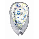 Cuib pentru bebelusi cu desfacere Bufnite albastre