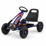 Go-Kart cu pedale si roti gonflabile Thor Blue