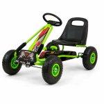 Go-Kart cu pedale si roti gonflabile Thor Green