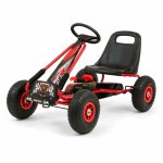 Go-Kart cu pedale si roti gonflabile Thor Red