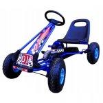 Kart cu pedale Gokart 3-7 ani roti gonflabile G1 R-Sport albastru
