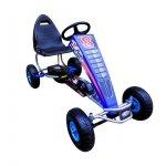 Kart cu pedale Gokart 4-10 ani roti gonflabile G5 R-Sport albastru