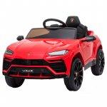 Masinuta electrica 12V Lamborghini Urus Rosu cu scaun de piele si roti EVA