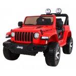Masinuta electrica Jeep Wrangler Rubicon Rosu 4x4 cu telecomanda si scaun piele