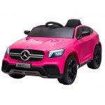Masinuta electrica cu roti din cauciuc si scaun piele GLC Coupe Pink