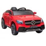 Masinuta electrica cu roti din cauciuc si scaun piele Mercedes-Benz GLC Coupe Red