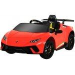 Masinuta electrica cu roti din cauciuc si scaun piele Lamborghini Huracan Red