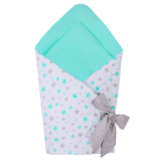Port bebe textil transformabil in salteluta de joaca Blue Stars