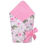 Port bebe textil transformabil in salteluta de joaca Pink Flowers