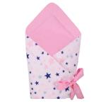 Port bebe textil transformabil in salteluta de joaca Pink Stars