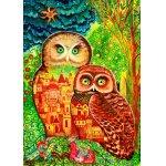 Puzzle Bluebird Owls 1000 piese
